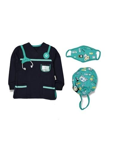 By Bebek Odam Laci Maske ve Boneli Doktor Modelli Erkek Çocuk Takım Renkli